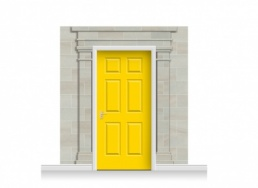 3-Drop Carlisle Door Set Mural (240cm) + Door Print
