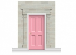 3-Drop Carlisle Door Set Mural (280cm) + Door Print
