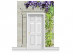 3-Drop Carlisle Door Set Mural (280cm) with Wistaria
