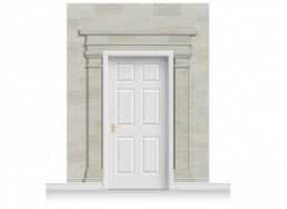 3-Drop Carlisle Door Set Mural (280cm)