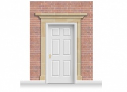 3-Drop Darlington Door Set Mural (280cm)