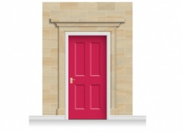 3-Drop Dartford Door Set Mural (280cm) + Door Print