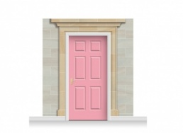 3-Drop Dorchester Door Set Mural (240cm) + Door Print