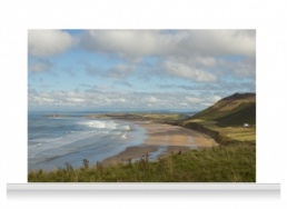 3-Drop Scenic Mural - Gower Coast (240cm)