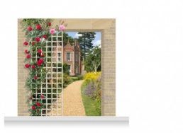 2-Drop Scenic Mural - Suffolk Garden (240cm)