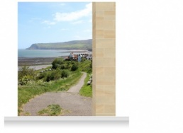 2-Drop Scenic Mural - Gower Headland (280cm)
