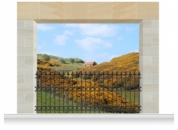 3-Drop Scenic Mural - North Yorkshire Moors (280cm)