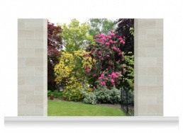 3-Drop Scenic Mural - Sussex Garden (240cm)