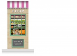 1-Drop Blackburn Shop Front 'Shop' Mural (280cm)