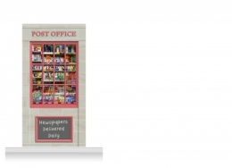 1-Drop Colchester Shop Front 'Post Office & Shop' Mural (240cm)