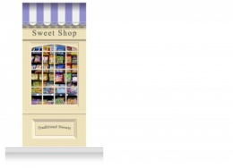 1-Drop Skipton Shop Front 'Sweet Shop' Mural (280cm)