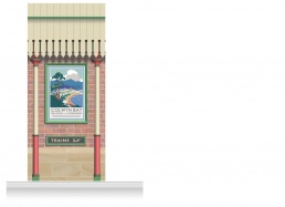 1-Drop Railway Station Mural (280cm)