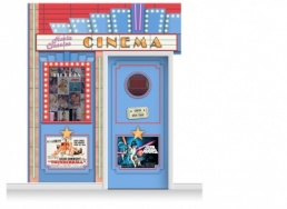 2-Drop Guildford 'Cinema' Mural (280cm) + Door Print