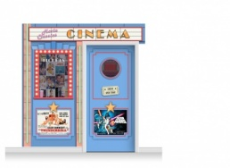 2-Drop Guildford 'Cinema' Mural (240cm) + Door Print