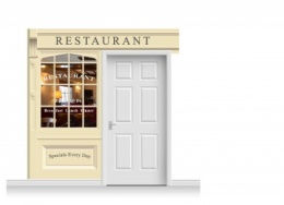 2-Drop Skipton Shop Front 'Restaurant' Mural (240cm)