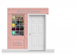 2-Drop Stamford Shop Front 'Hairdresser' Mural (240cm)