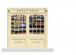 2-Drop Skipton Shop Front 'Sweet Shop' Mural (240cm)