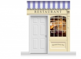 2-Drop Skipton Shop Front 'Restaurant' Mural (280cm)