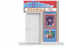 2-Drop Guildford 'Cinema' Mural (280cm)