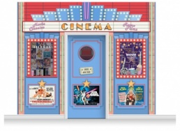 3-Drop Guildford 'Cinema' Mural (280cm) + Door Print