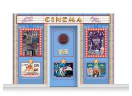 3-Drop Guildford 'Cinema' Mural (240cm) + Door Print