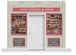 3-Drop Colchester Shop Front 'Post Office & Shop' Mural (280cm)