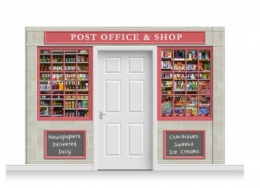 3-Drop Colchester Shop Front 'Post Office & Shop' Mural (240cm)