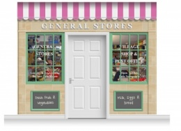 3-Drop Blackburn Shop Front 'General Stores' Mural (280cm)