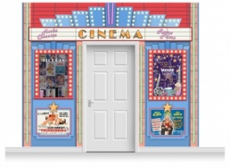 3-Drop Guildford 'Cinema' Mural (280cm)