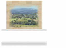 2-Drop Vignette Mural - Worcestershire Countryside (190cm)