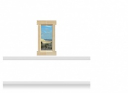 1-Drop Window Mural Sticker - Norfolk Coast (67.5cm x 120cm)
