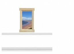 1-Drop Window Mural Sticker - Gower Beach (90cm x 142.5cm)