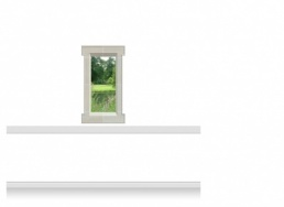 1-Drop Window Mural Sticker - Lincolnshire Parkland  (67.5cm x 120cm)