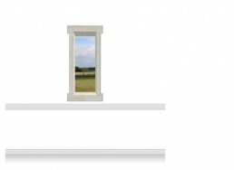 1-Drop Window Mural Sticker - Shropshire Fields (67.5cm x 142.5cm)
