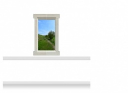1-Drop Window Mural Sticker - Derbyshire Path (90cm x 142.5cm)
