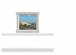 1-Drop Window Mural Sticker - Norfolk Coast (135cm x 120cm)