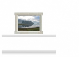 1-Drop Window Mural Sticker - Lake at Dusk (157.5cm x 120cm)