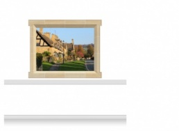 2-Drop Window Mural Sticker - Cotswolds Village (180cm x 142.5cm)