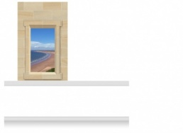 1-Drop (120cm) Window Frame Mural - Gower Beach (190cm)