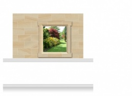 2-Drop Window Frame Mural - Warwickshire Garden (150cm)