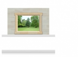 2-Drop Window Frame Mural - Lincolnshire Parkland (150cm)