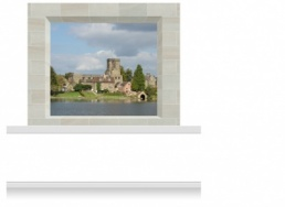 2-Drop Window Opening Mural - Derbyshire Village (190cm)