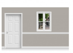 Self-Adhesive Window Stick-Up - Pantiles, Kent (90cm x 120cm)