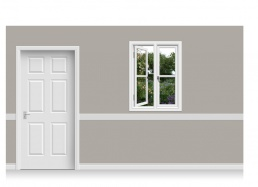 Self-Adhesive Window Stick-Up - Flower Garden (90cm x 120cm)
