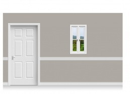 Self-Adhesive Window Stick-Up - Derbyshire Hill (56cm x 100cm)