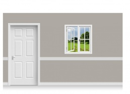Self-Adhesive Window Stick-Up - Derbyshire Field (94cm x 100cm)