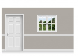 Self-Adhesive Window Stick-Up - Back Garden (112cm x 100cm)