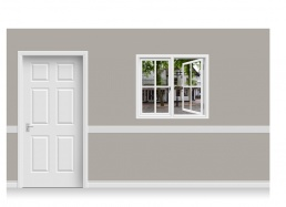 Self-Adhesive Window Stick-Up - Pantiles, Kent (112cm x 100cm)