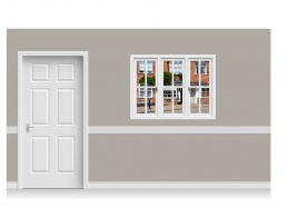Self-Adhesive Window Stick-Up - Suffolk Street (131cm x 100cm)