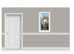 Self-Adhesive Window Stick-Up - Yorkshire Village (67cm x 120cm)
